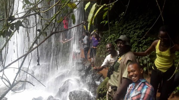 Nyakasura Falls at Amabere caves