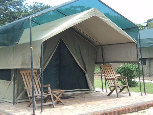 Tent at Ngamba Island