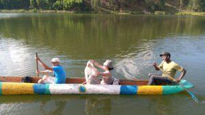 Canoeing at Lake Bunyonyi